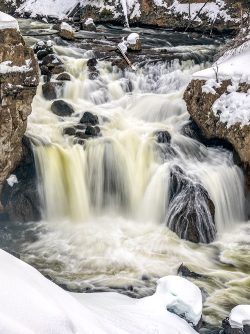 Winter at Firehole Fall