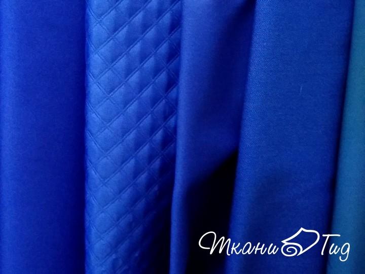 Tecido de poliéster azul