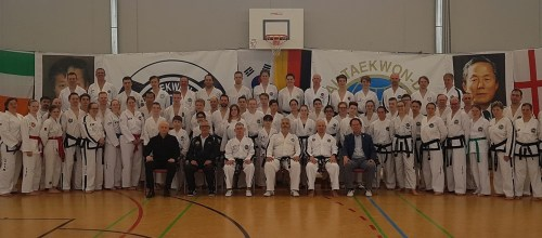 With GM Nicholls in Germany