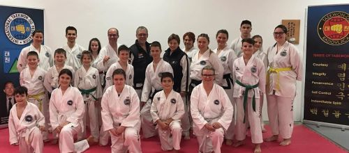 Joint training with German ITF and new black belts