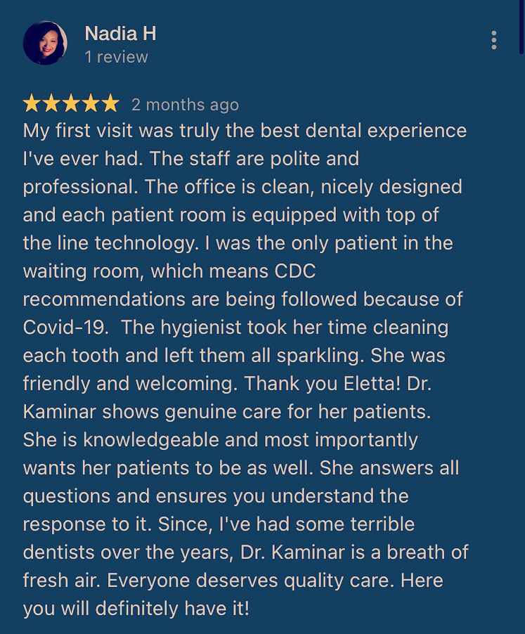 Google Reviews - TK Dental Wayne NJ