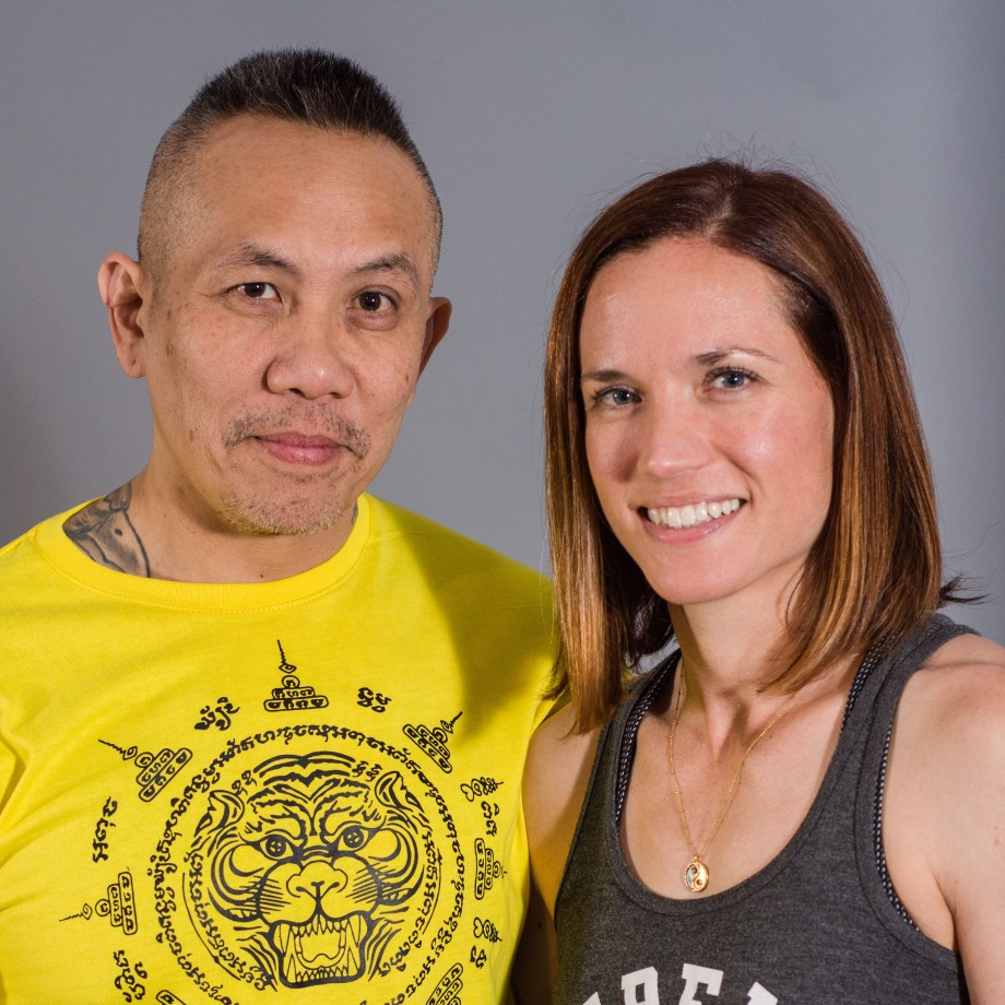 Martial Artist and Author, Ninja Nguyen (l), with his wife