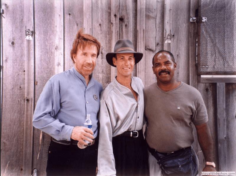 Steven Lambert (c) with Chuck Norris