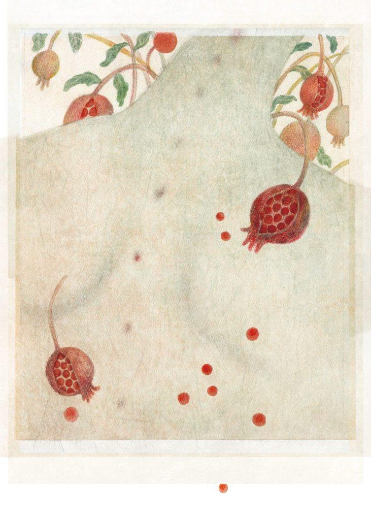 很多果實從身體長出來,一點一點紅色