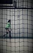 Action -My oldest daughter playing volleyball.