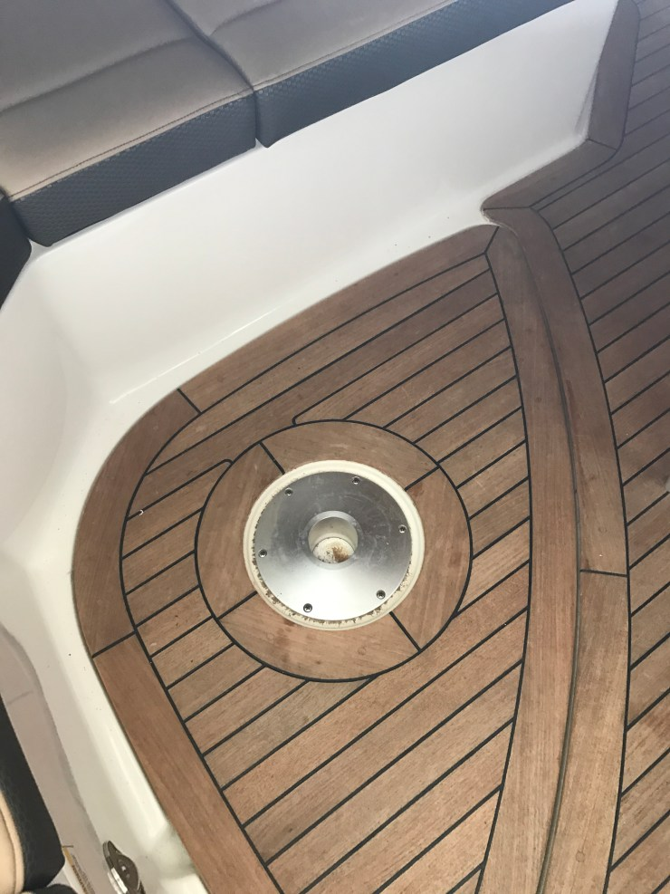 Our Stanchion mount covers are precisely designed to fit all late model Sea Ray boats with Teak Decking kits.