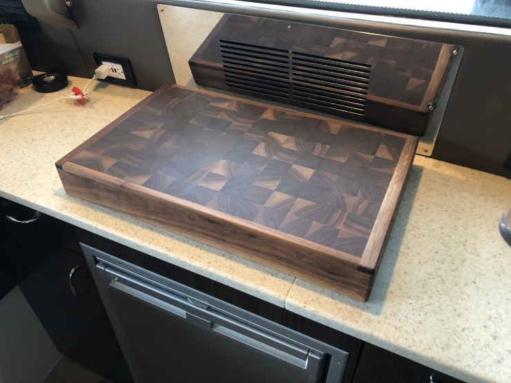 black walnut matching butcher block hand made range style cover