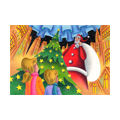 """Illustrations of """"Christmas tree, Twinkle star, Downtown, Santa Claus"""""""