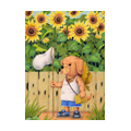 "Illustrations of ""Dog, Puppy, Sunflower, Summer vacation"""