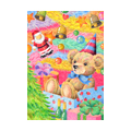 "Illustrations of ""Teddy bear, Tinsel garland, Christmas gift, Jingle bell"""