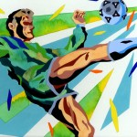 "Illustrations of ""Football・Soccer・Soccer player・Kicker"""