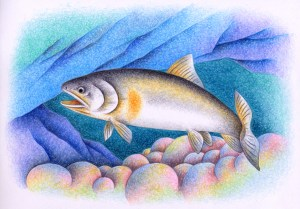 Fish,River fish,Freshwater fish, tale,Ayu,Sweetfish,Riverbed,River bottom,Clear stream,River,Underwater,Fantasy,Fairy