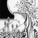 """Illustrations of """"Humanoid, Science fiction, Future world, Cyber city"""""""