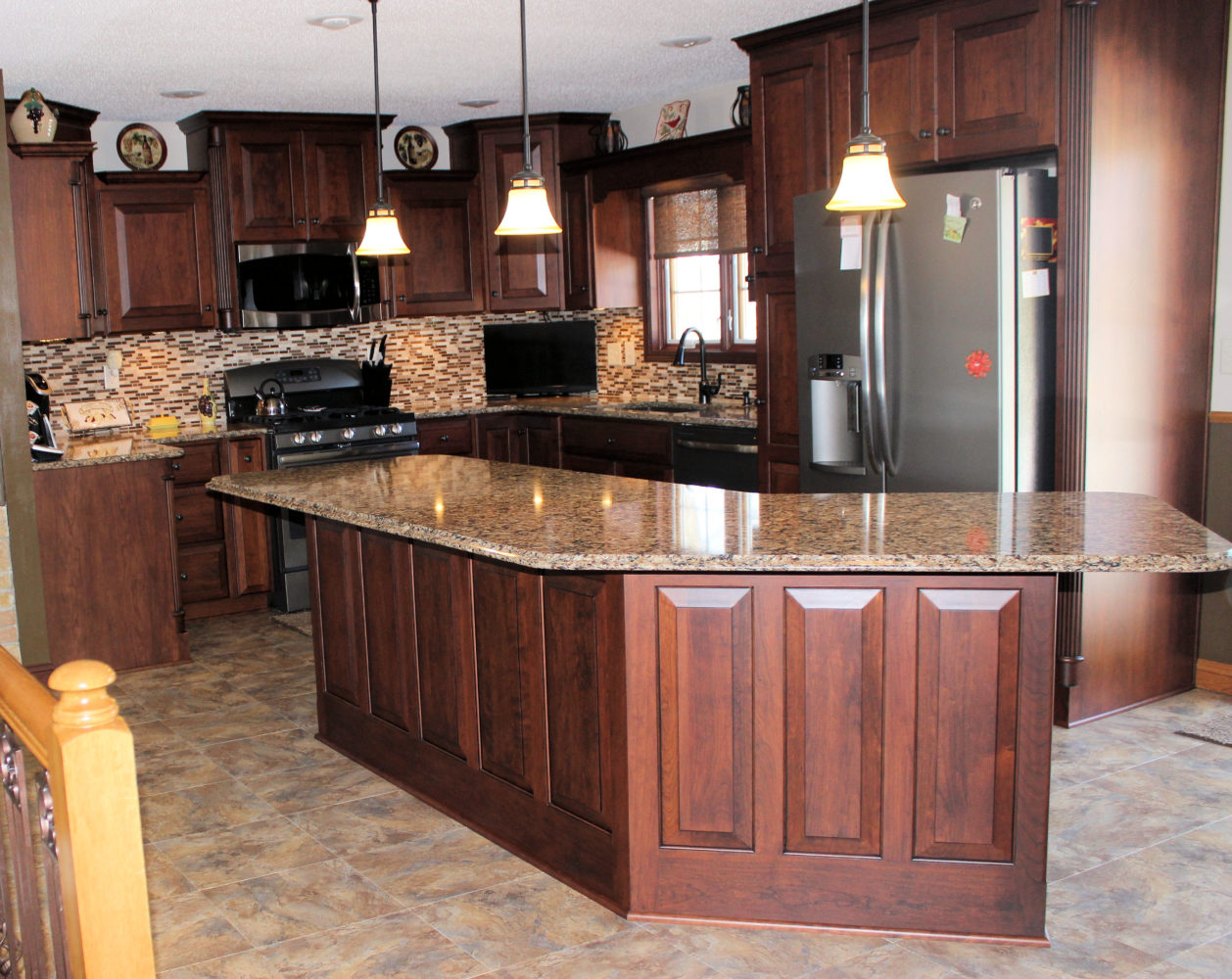 cherry wood kitchen island 4 piece stainless steel appliance package with galleries and projects the