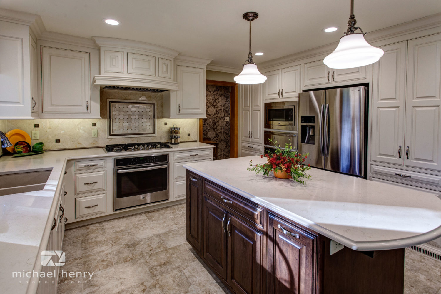 Traditional Antique White Kitchen  Galleries  Projects