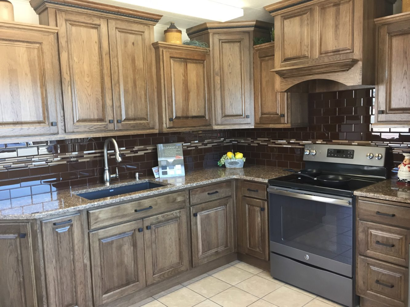 coffee color kitchen cabinets www ninja com tawny with quartz countertop - galleries ...