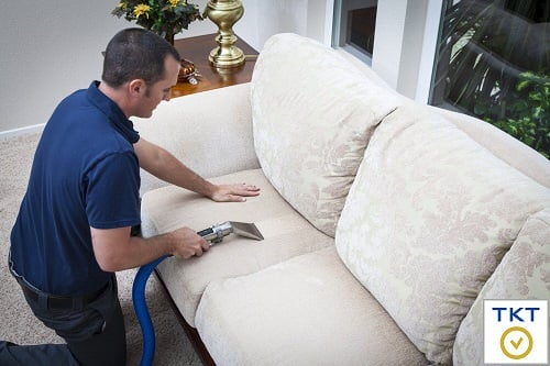 Image: Sofas cleaning at hom of Upholstery Cleaning Service TKT
