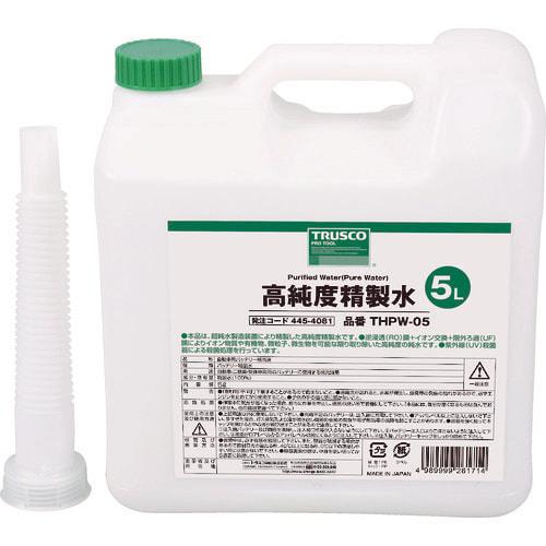 TRUSCO 高純度精製水 5L