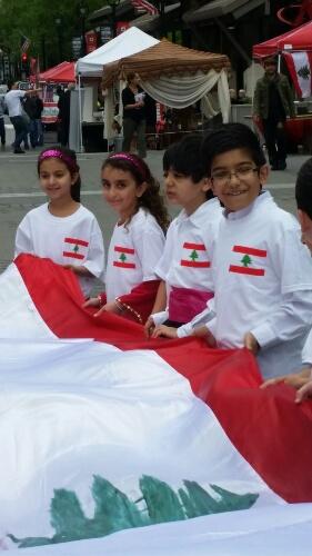 fest 2016 kids holdng flag