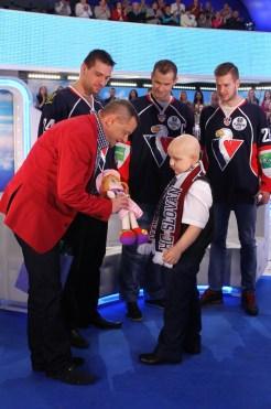 Zápas svojho milovaného Slovana sledoval najväčší hokejový bojovník z VIP boxu, slovanisti nechýbali ani v štúdiu.