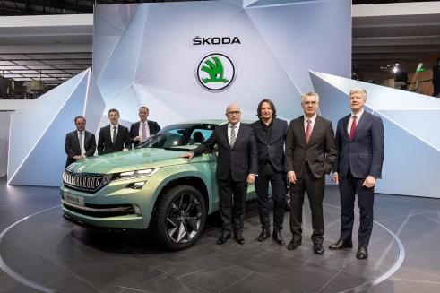 ŠKODA predstavila na tlačovej konferencii na ženevskom autosalóne atraktívnu dizajnovú štúdiu VisionS. V nasledujúcich rokoch bude mladoboleslavská automobilka postupne rozširovať svoju ponuku v segmente SUV.