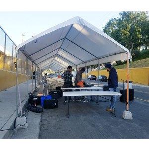 10 Feet by 50 feet Tent Rental in Gardena
