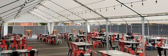 Full Service Tent Rental for Outdoor Dining
