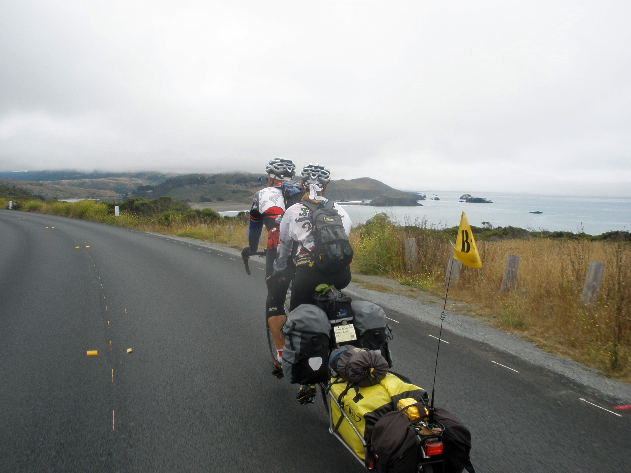 Nearing Jenner, Goat Rock in the distance