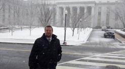 Carl in snow