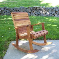 Cedar Rocking Chairs Kitchen Chair Covers Canada Handbuilt Hardwood Lawn Furniture T L