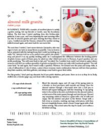Recipe Sheet for A Mouthful of Stars