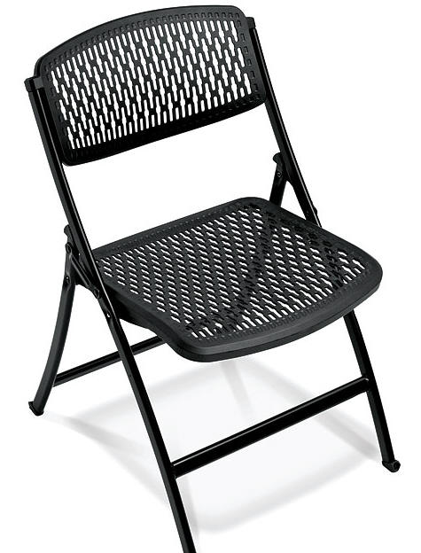 MityLite Black Folding Chair  TLC Event Rentals