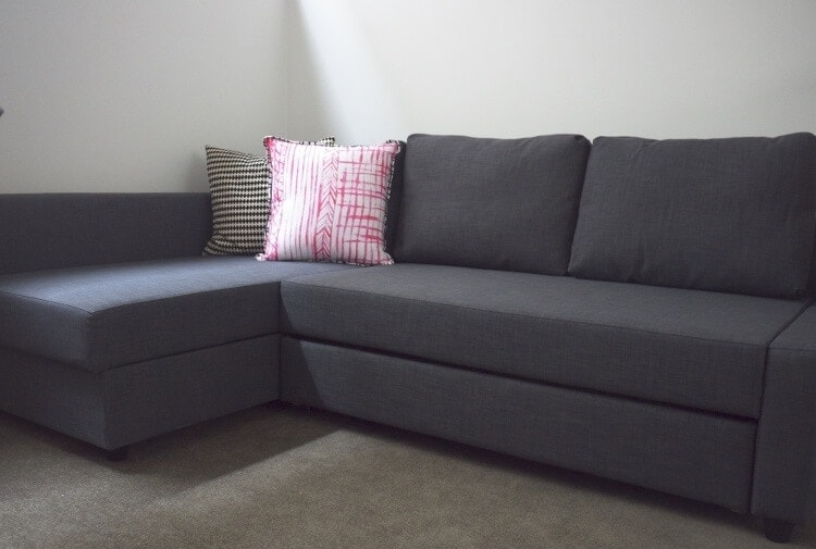 elegant ikea friheten sofa bed in charcoal grey with ikea