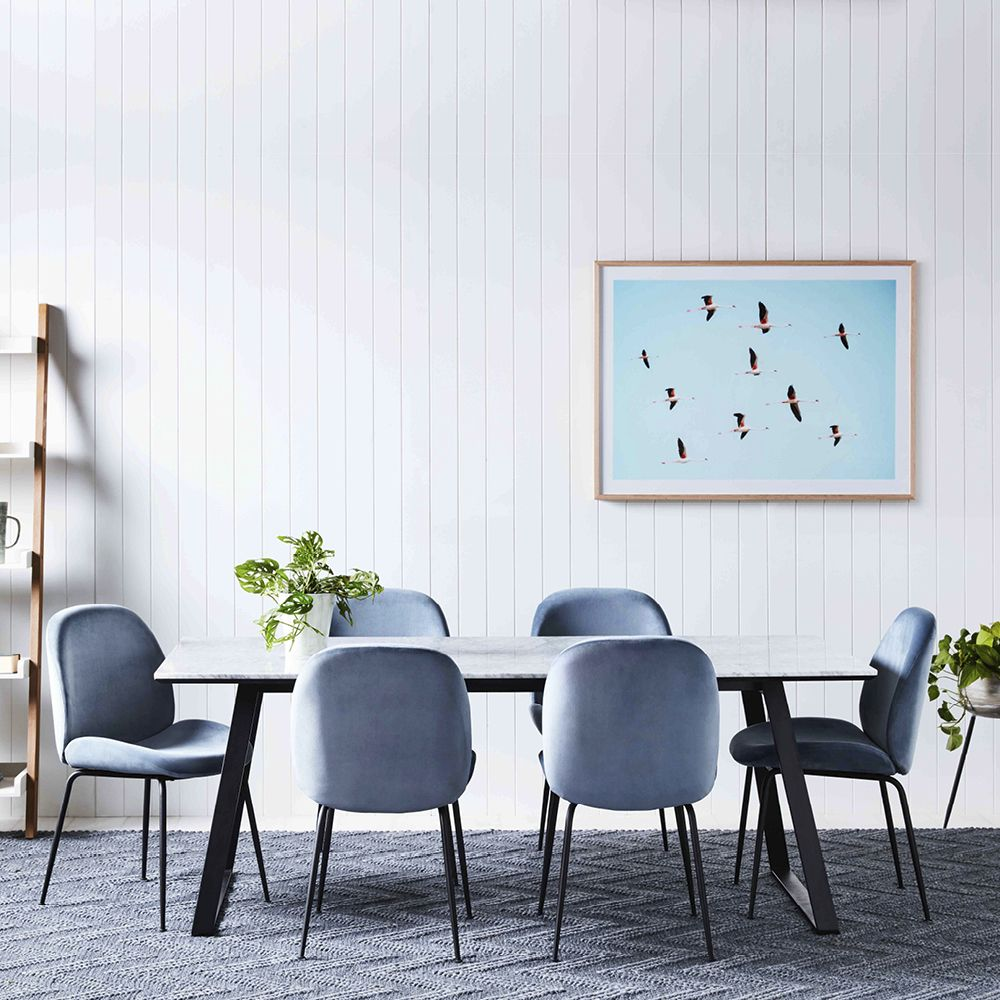 Blue Dining Chairs Affordable Options That Rival The Kmart Velvet Dining Chair