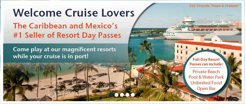 Did you know you could enjoy a Beach Resort for a day during your Cruise Vacay?