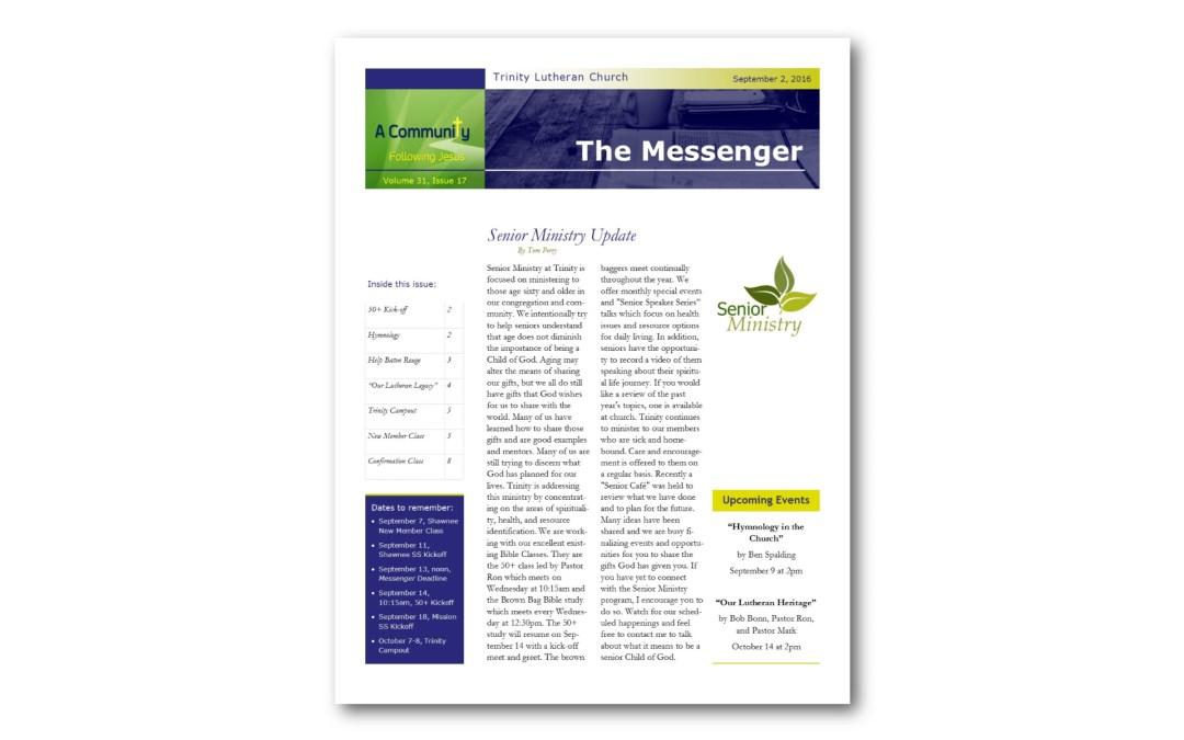 September 2, 2016, Messenger