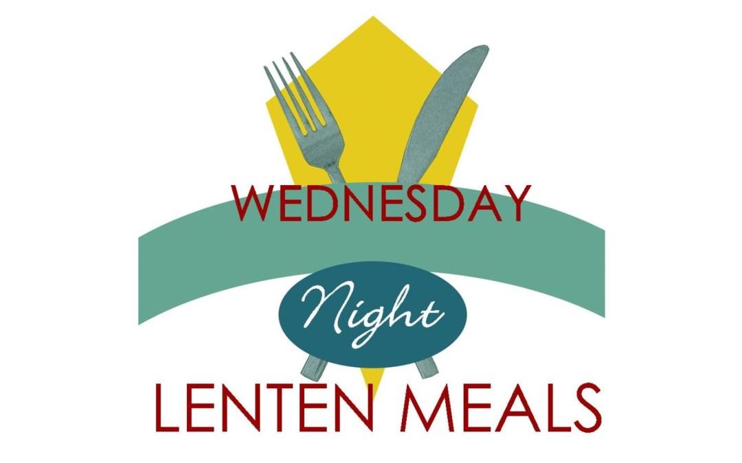 March 4 Lenten Meal Menu