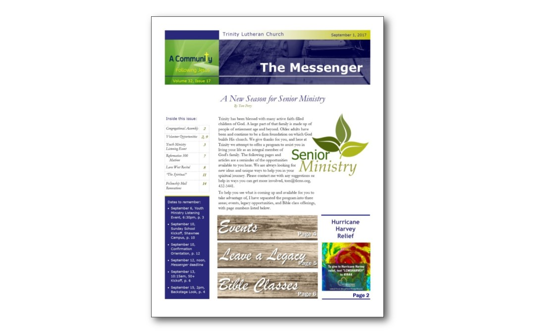 September 1 Trinity Messenger
