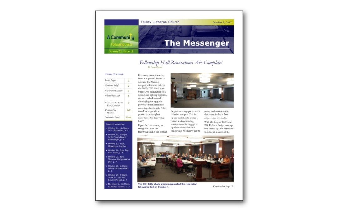October 6 Trinity Messenger