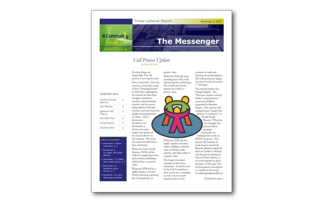 November 3 Trinity Messenger