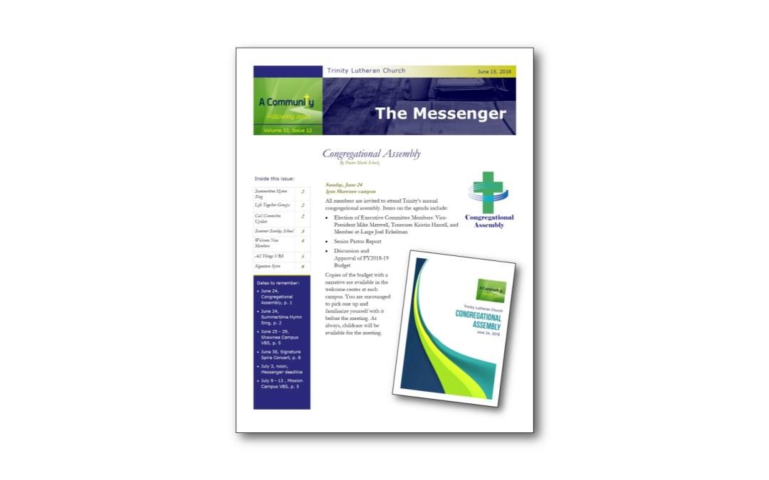 June 15 Trinity Messenger