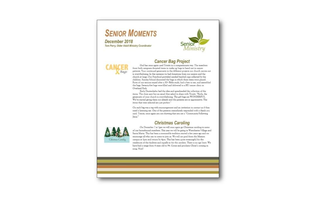 December Senior Moments Newsletter