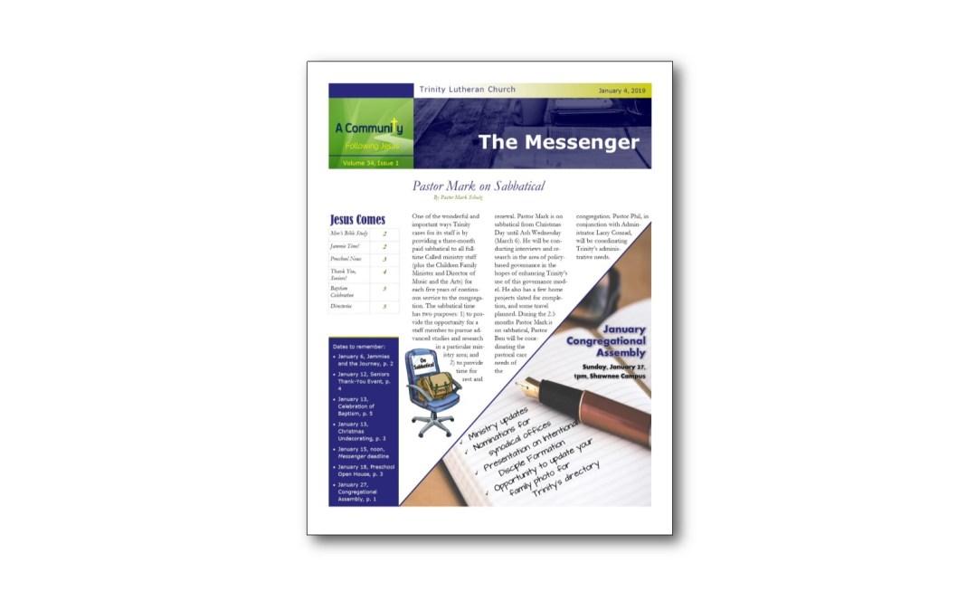 January 4 Trinity Messenger