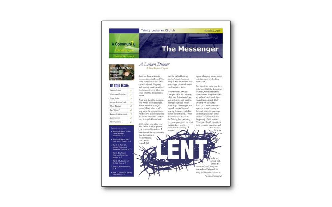 March 15 Trinity Messenger