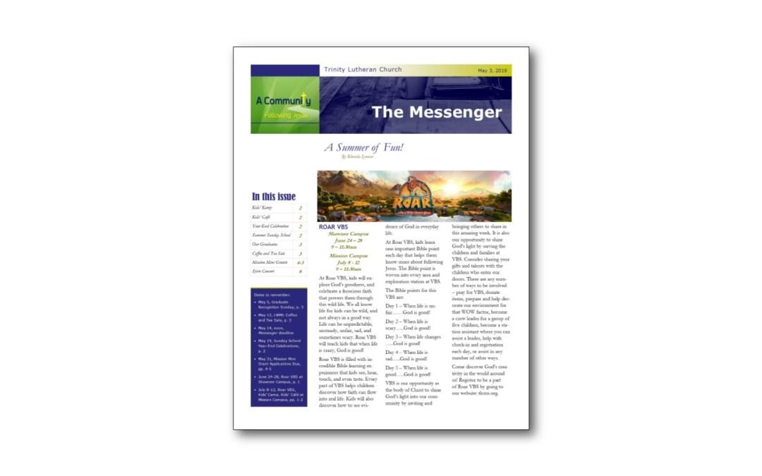 May 3 Trinity Messenger