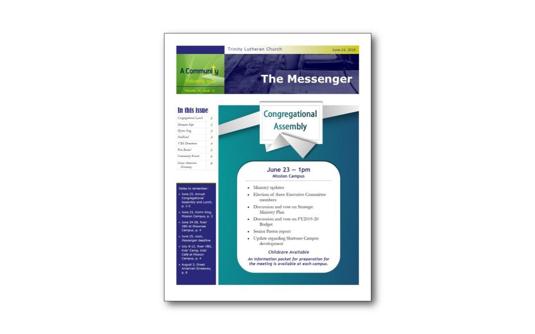 June 14 Trinity Messenger