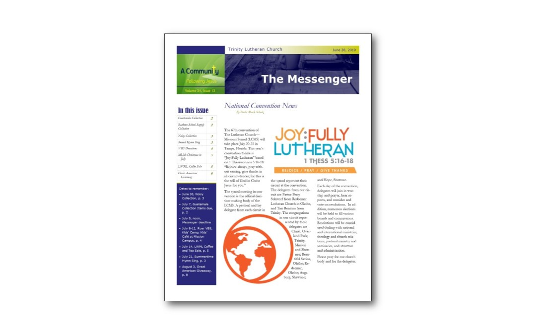 June 28 Trinity Messenger