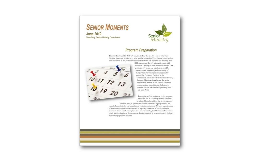 Senior Moments June Newsletter