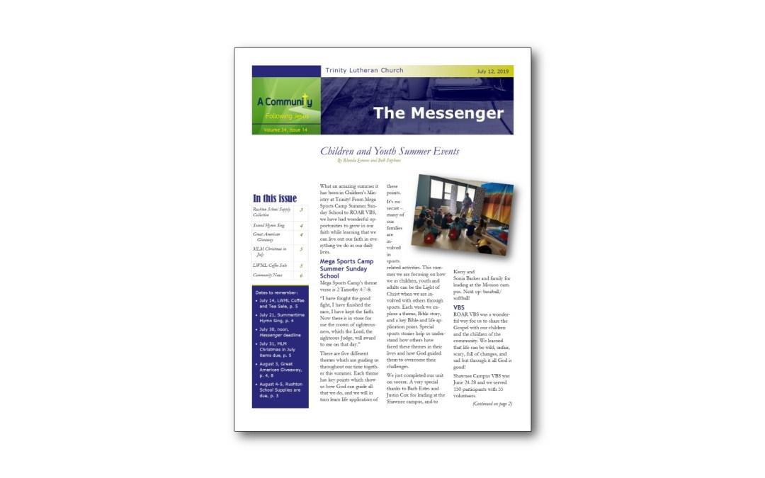 July 12 Trinity Messenger