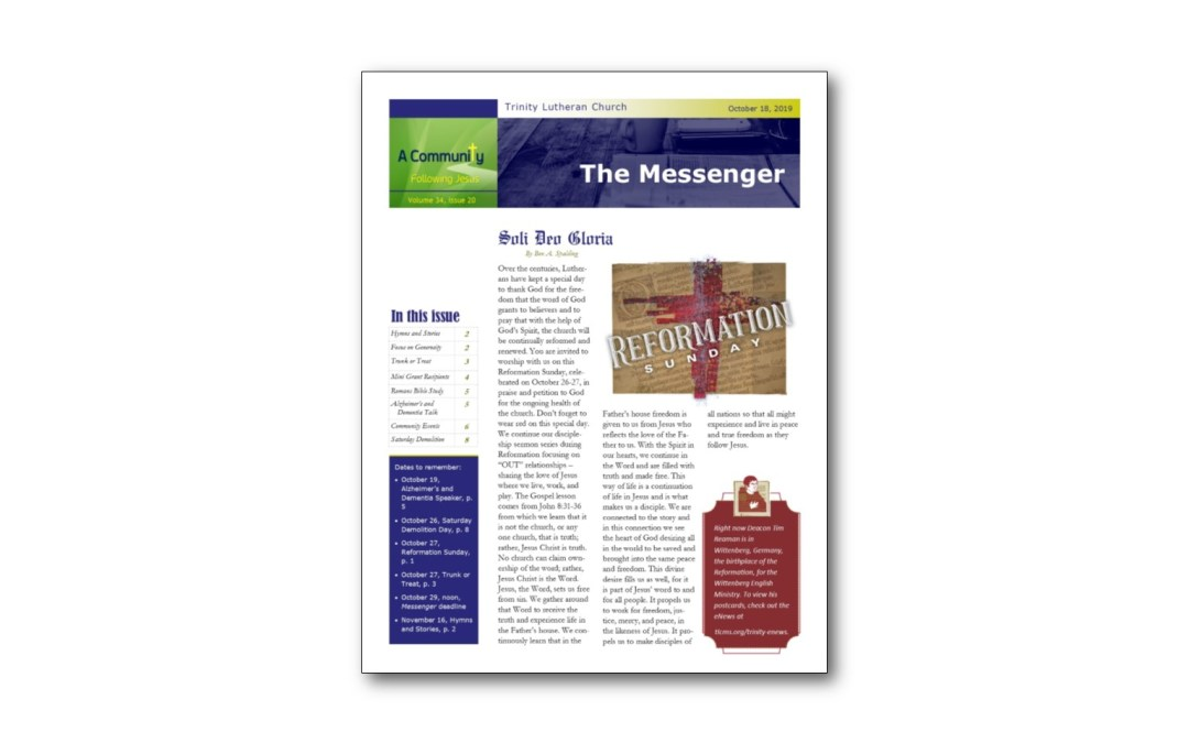 October 18 Messenger